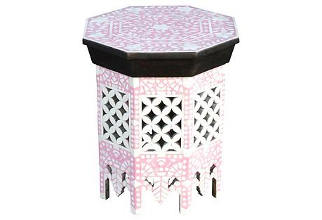 Pink Blush Moorish Bone Inlay Table