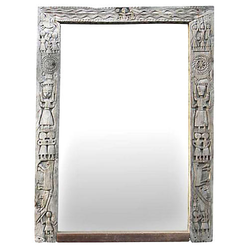 Tribal Bastar Antique Mirror