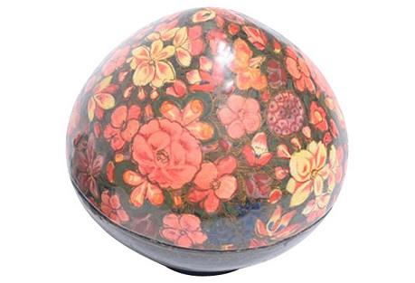 Floral Tear Drop Kashmiri Box