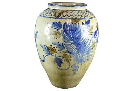 Large Asian Painted Vase