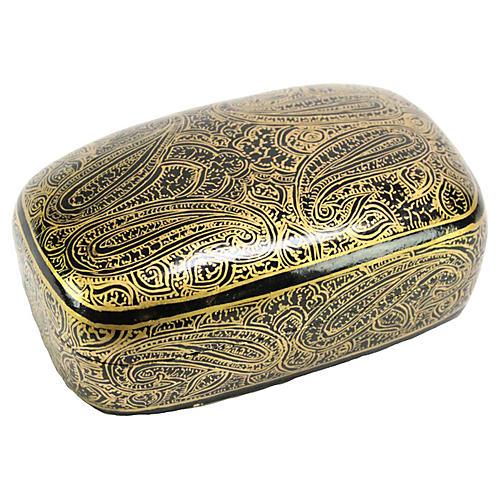 Paisley Kashmiri Hand-Painted Box