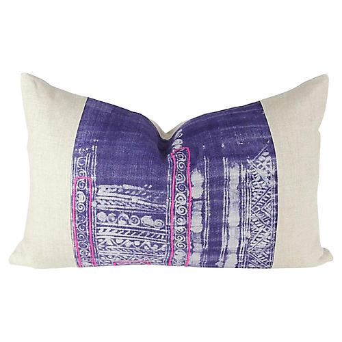 Indigo Lumbar Batik Pillow