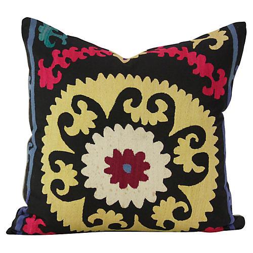 Daisy Suzani Square Pillow