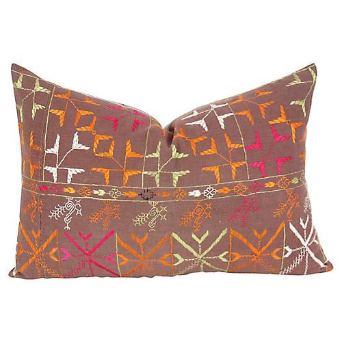 Yamuna Bagh Phulkari Lumbar Pillow