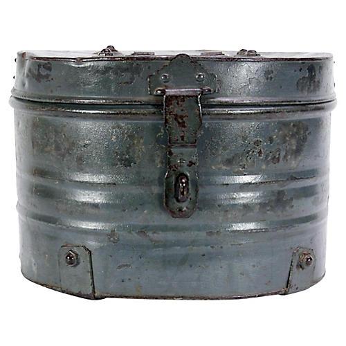 Silver Metal Grain Storage