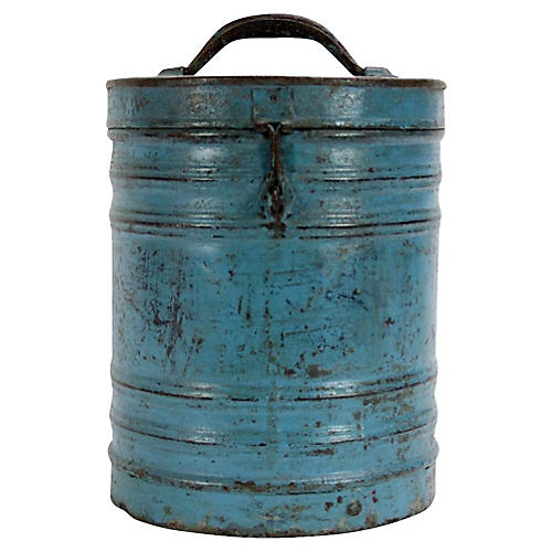 Blue Grain Storage Container