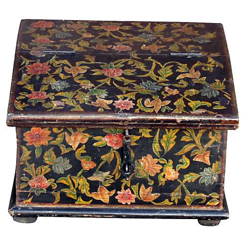 Floral Slant-Front Desk Box
