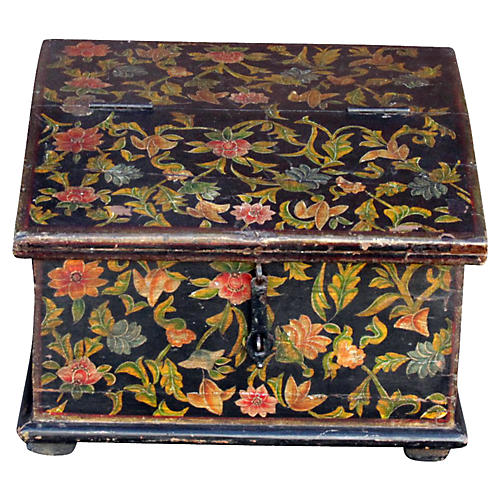 Floral Slant-Front Desk Box