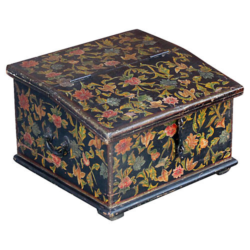 Floral Slant-Front Writing Box