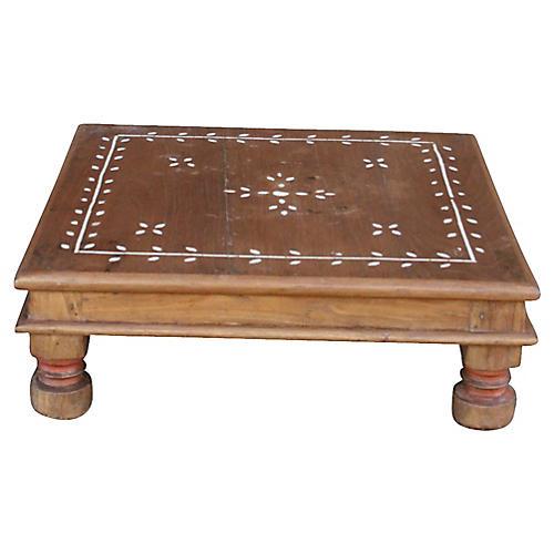 Vine Motif Bone-Inlay Bajot Table. VINTAGE - Furniture - Vintage By Category - Vintage One Kings Lane