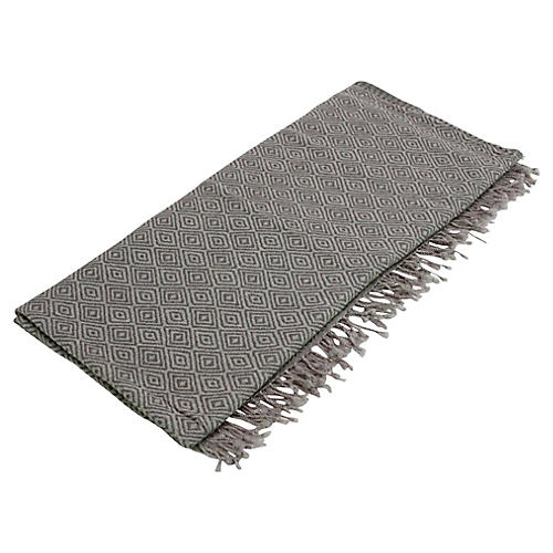 Gray Diamond Jammu Throw