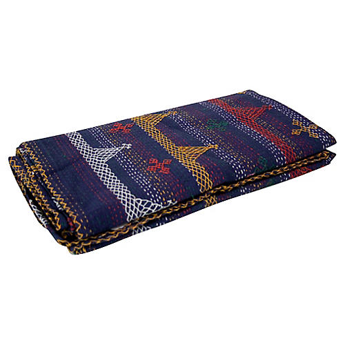 Aari Azul Tribal Coverlet