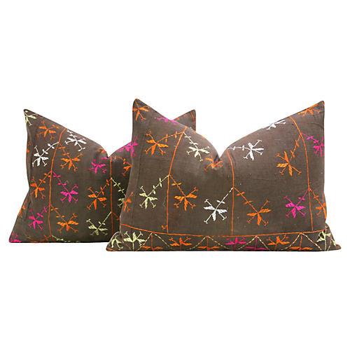 Silakot Phulkari Pillows, Pair