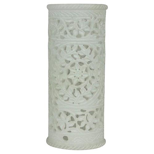 White Pierced Marble Vase