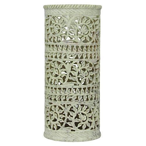 Green Pierced Marble Vase
