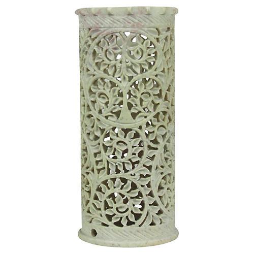 Pierced Marble Vase