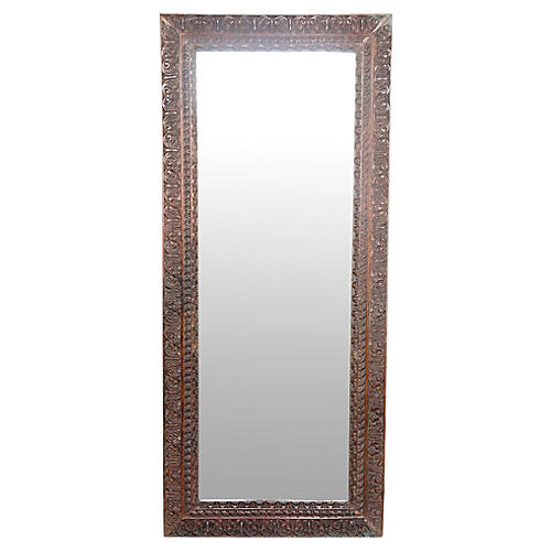 Tribal Carved Mirror