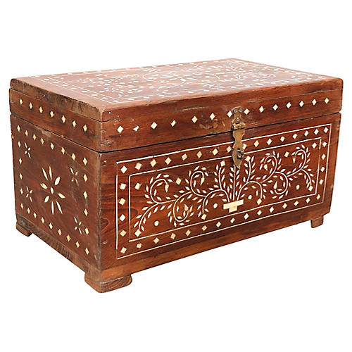 Anglo-Indian Bone Inlay Document Box