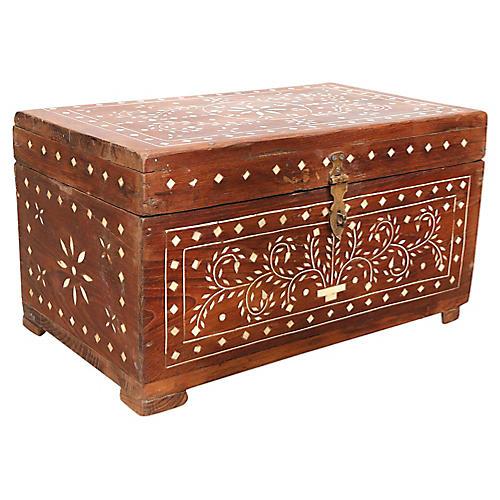 Anglo-Indian Bone Inlay Document Box