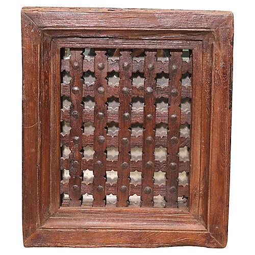 Antique Moorish Carved Mirror
