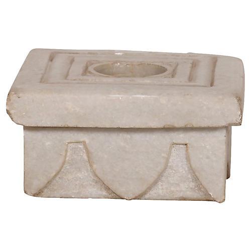 Square Stone Candleholder