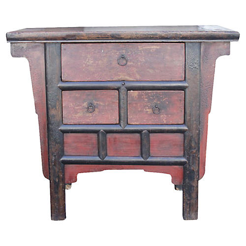 Red Painted Money Dresser