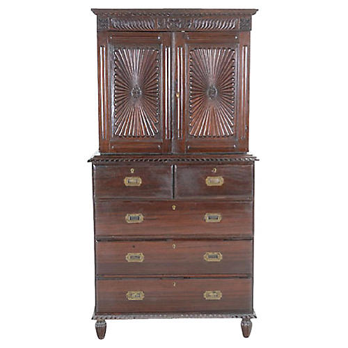 Anglo Indian Sunburst Campaign Cabinet