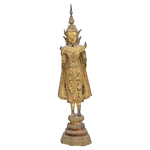 Antique Thai Metal Buddha