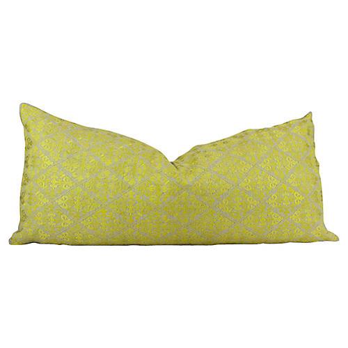 Swati Diamond Neon Yellow Brocade