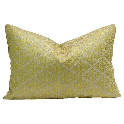 Swati Neon Fleur De Lys Pillow