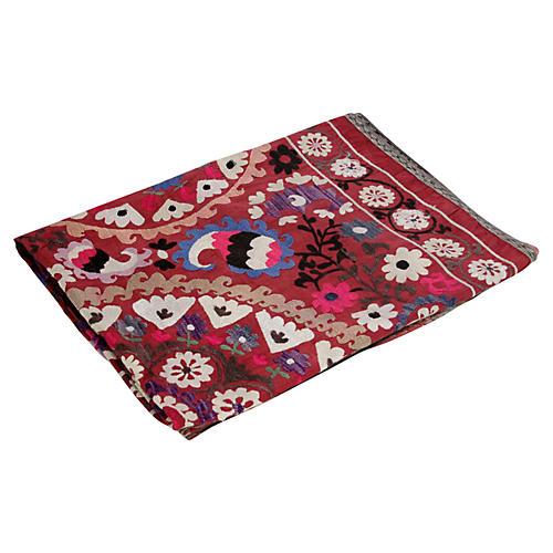 Colorful Magenta Suzani Tapestry