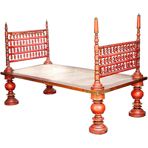 19th-C. Indian Daybed
