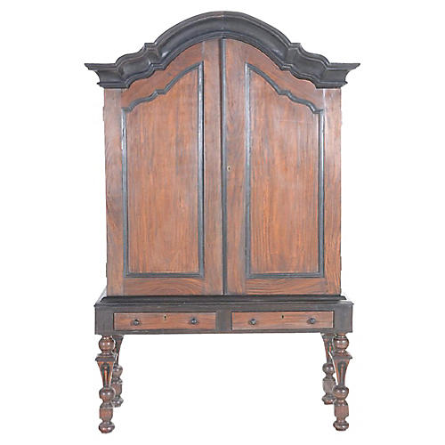 Rare Majestic Indian Cabinet on Stand
