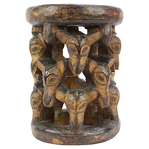 African Yoruba Stool