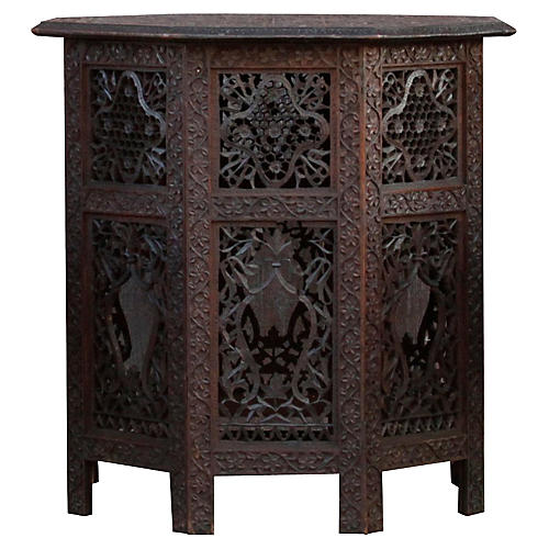 Anglo-Indian Carved Side Table