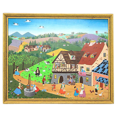 Picturesque Folk Painting