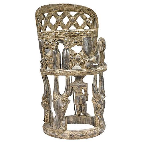 Yoruba Carved Ceremonial Chair