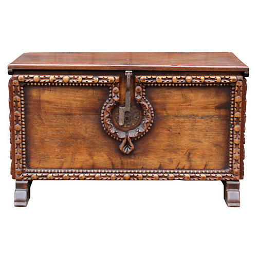 Hand-Carved Spanish Colonial Trunk