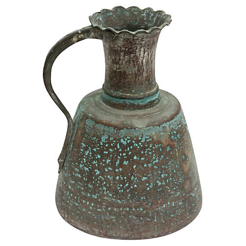 Aged Copper Water Jug