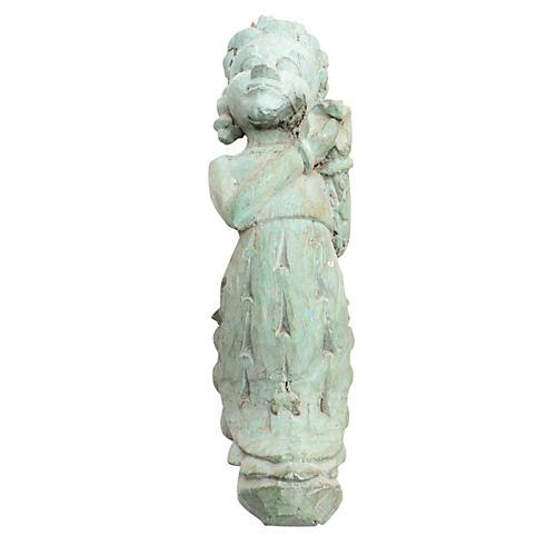 Antique Krishnavaite Carved Corbel