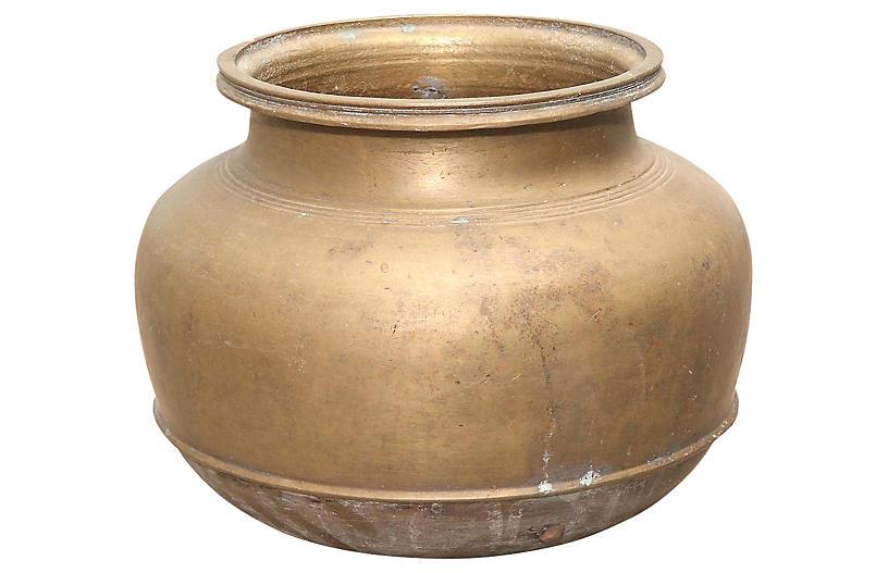 Round Brass Pot