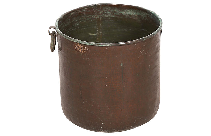 Hand-Hammered Copper Container