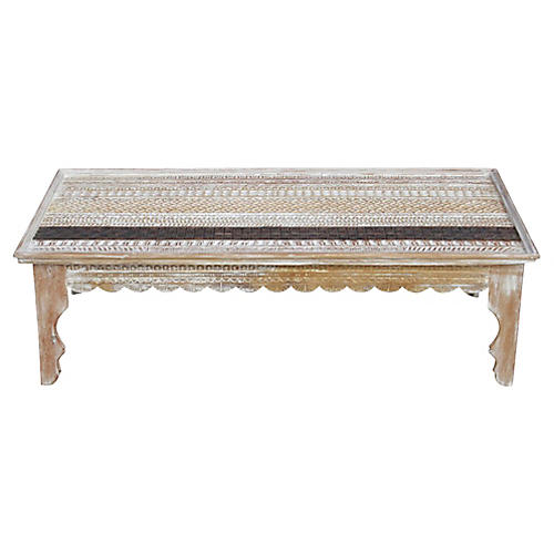 Mandawa Carved Top Coffee Table