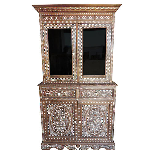 Beautiful Bone Inlay China Cabinet