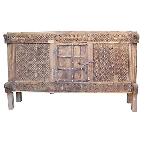 Precious Carved Damachiya Cabinet
