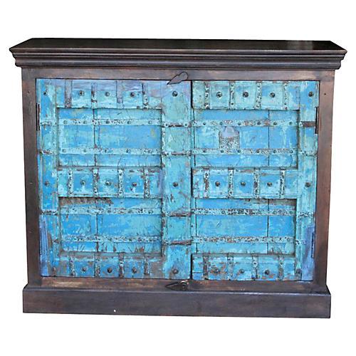Jodha Turquoise Old Door Buffet Cabinet