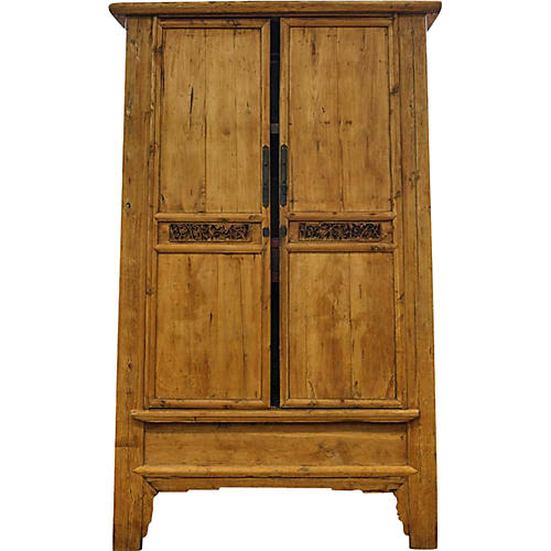 Grand Antique Asian Armoire