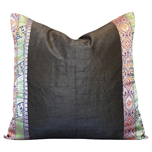 Ebony Heritage Silk Pillow