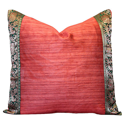 Red Heritage Silk Pillow
