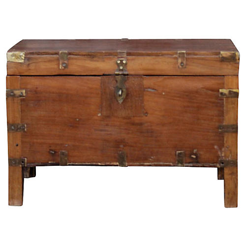 Early 20th C. Campaign Trunk